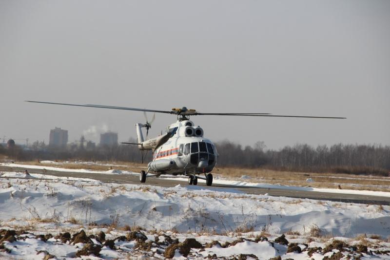 Новый Ми-8 пополнил авиапарк Хабаровского авиационно-спасательного центра МЧС России